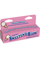 Sweeten D Blow Oral Pleasure Gel Vanilla 1.5 Ounce